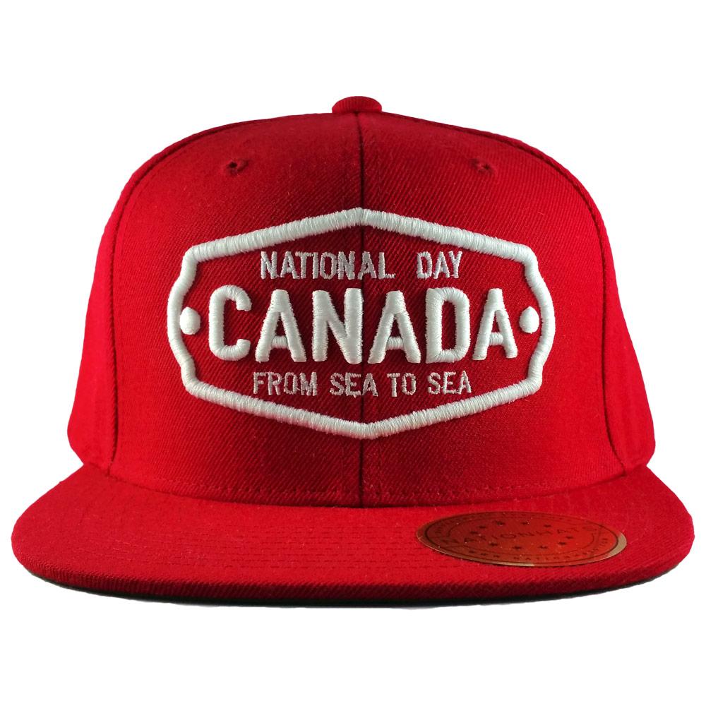 Canada-National-Badge-Holiday-Classics-Red-Snapback-Cap