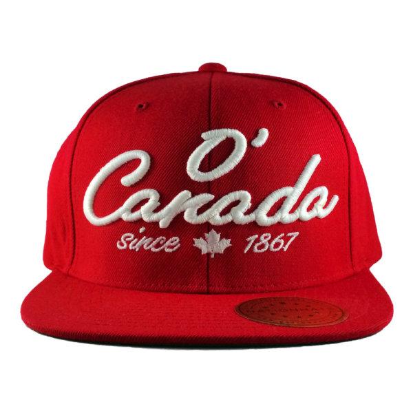 O-Canada-Holiday-Classics-Red-Snapback-Cap