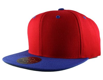 Classic snapback cap with a 6-panel style of stitching.