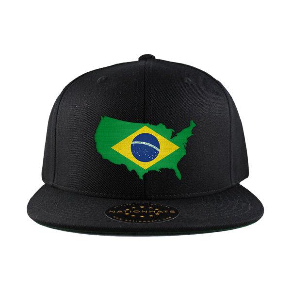 Classic-Snapback-Cap-Mapflag-Black-USA-Brazil