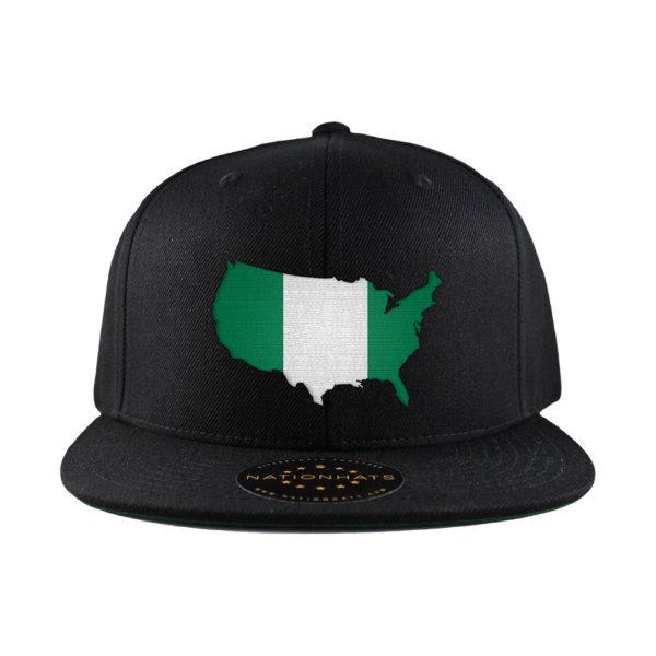 Classic-Snapback-Cap-Mapflag-Black-USA-Nigeria