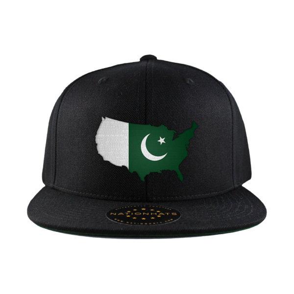 Classic-Snapback-Cap-Mapflag-Black-USA-Pakistan