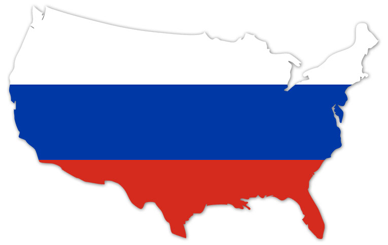 6efe3715ca477 America outline map with the flag of Russia - MapFlag™