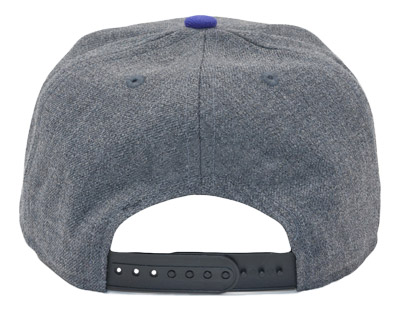 The plastic strap used on snapback caps make them very durable and flexible, fitting on broad head sizes.