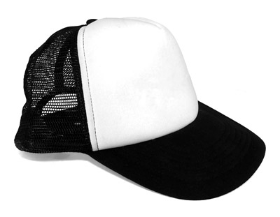 Trucker hats have a plastic mesh in the back to help with the breathability of the cap.