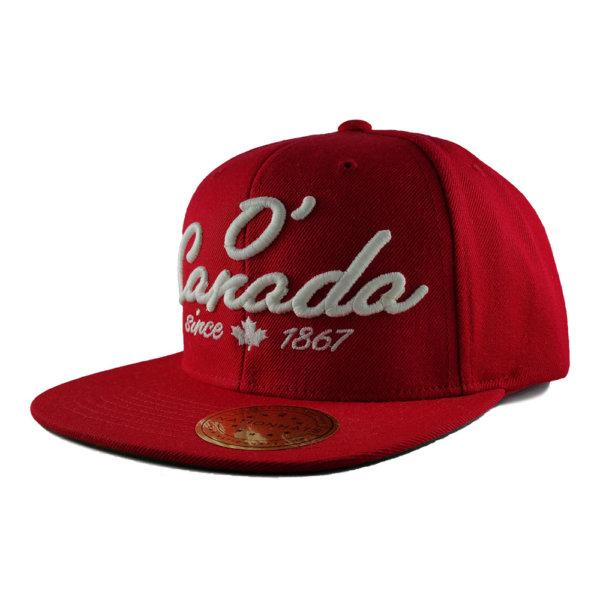 O-Canada-Holiday-Classics-Red-Snapback-Cap-iso-1