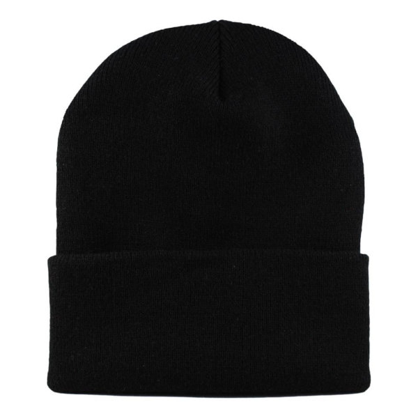 cuffed-knit-beanie-cap-black-blank