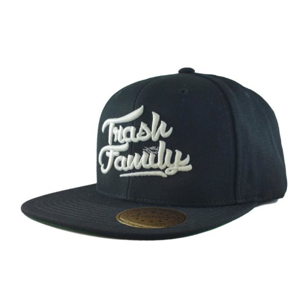 trash-family-custom-snapback-hat-black-iso