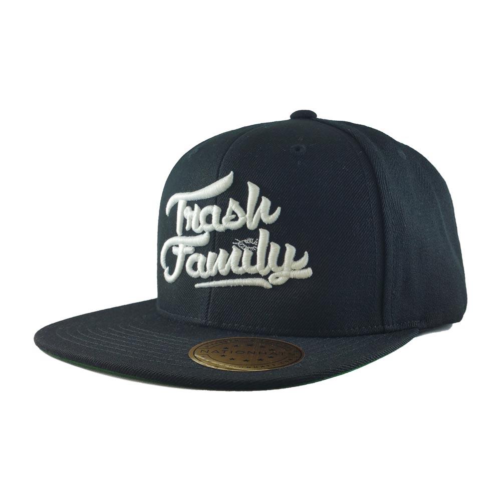 trash-family-custom-snapback-hat-black-iso