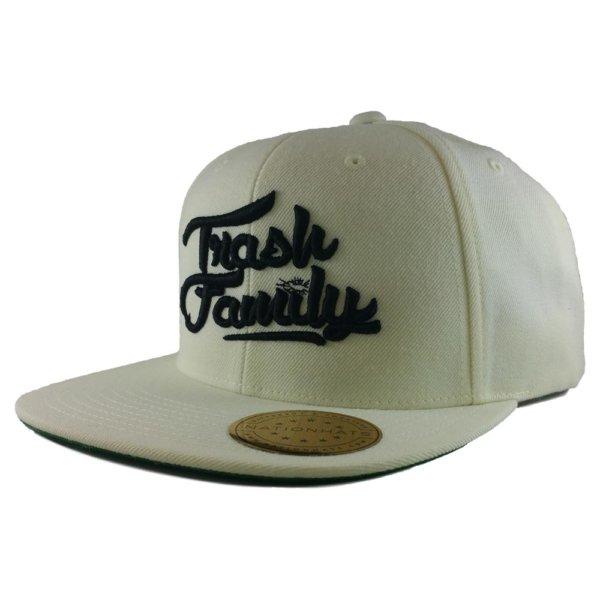 trash-family-custom-snapback-hat-white-iso