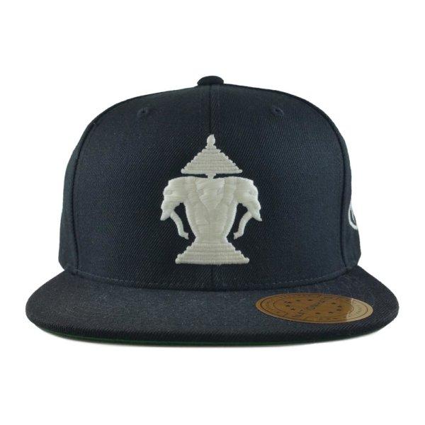 24-kuts-barbershop-laos-edition-custom-snapback-hat-black-front