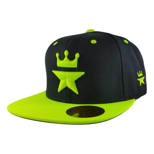 Original-Royal-Star-Collection-Classic-Snapback-2-tone-6p-black-neon-green-iso