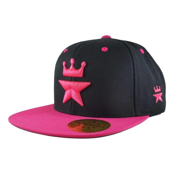 Original-Royal-Star-Collection-Classic-Snapback-2-tone-6p-black-pink-iso