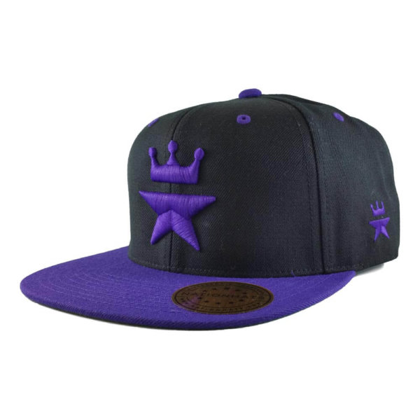 Original-Royal-Star-Collection-Classic-Snapback-2-tone-6p-black-purple-iso