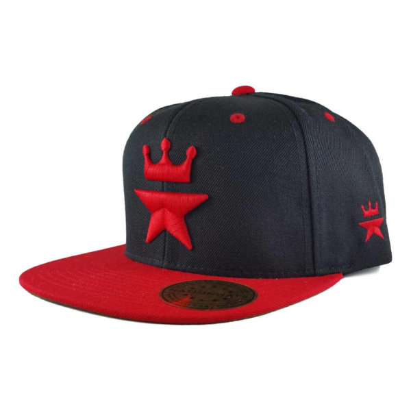 Original-Royal-Star-Collection-Classic-Snapback-2-tone-6p-black-red-iso