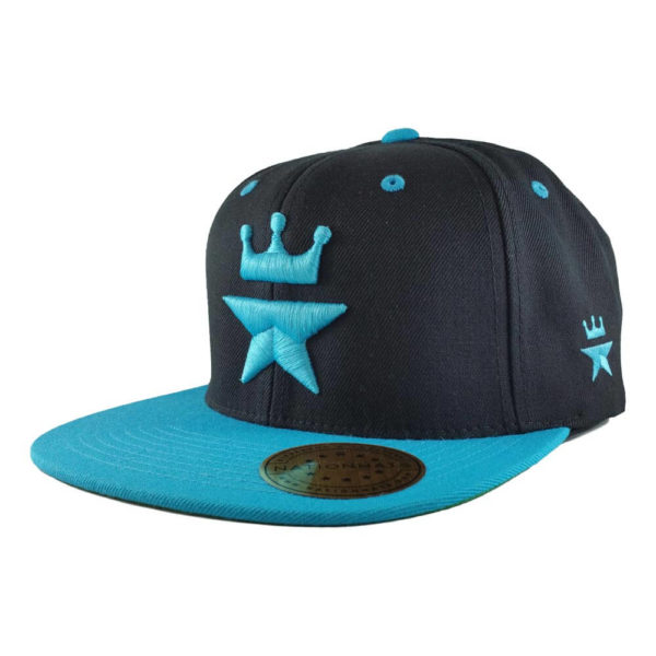Original-Royal-Star-Collection-Classic-Snapback-2-tone-6p-black-teal-iso