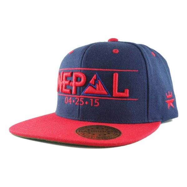 Nepal-earthquake-appeals-collection-classic-6p-snapback-navy-red-iso