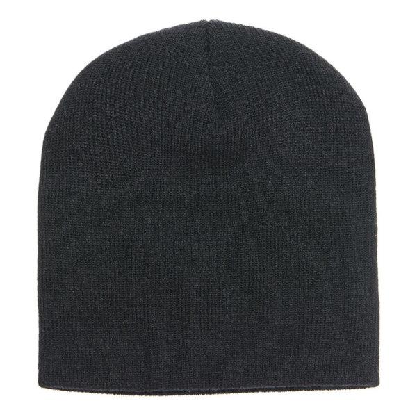 Blank-knit-beanie-cap-black