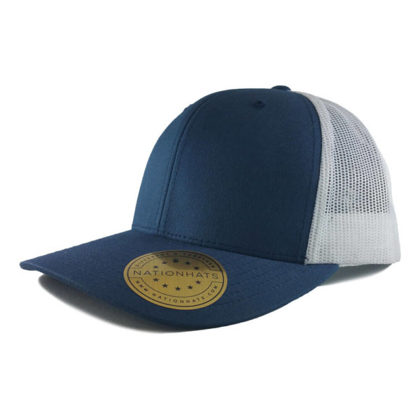 Blank-6606-Retro-Trucker-Cap-Navy-White-Iso