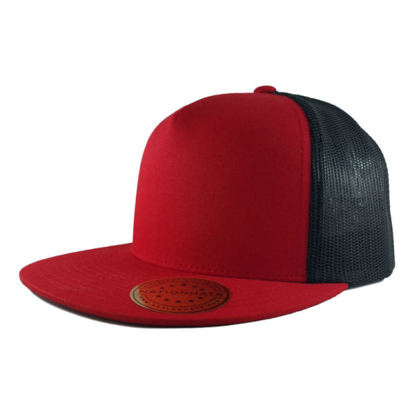 Blank-6006-Classic-Trucker-Cap-Red-Black-Iso