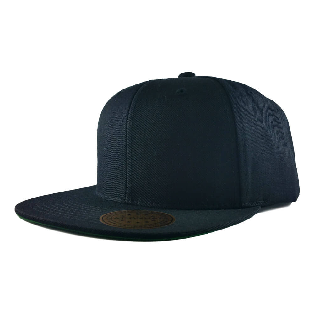 Blank-6089M-Classic-Snapback-Cap-Black-Iso