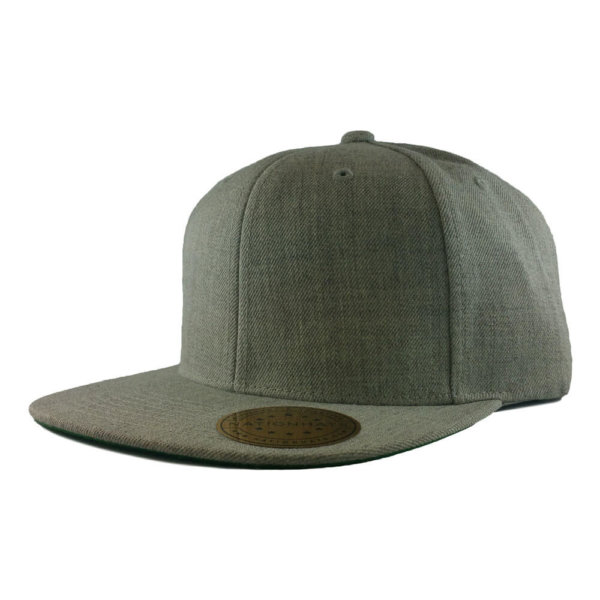 Blank-6089M-Classic-Snapback-Cap-Heather-Grey-Iso