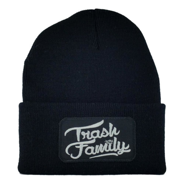 Trash-Family-Beanie-Black