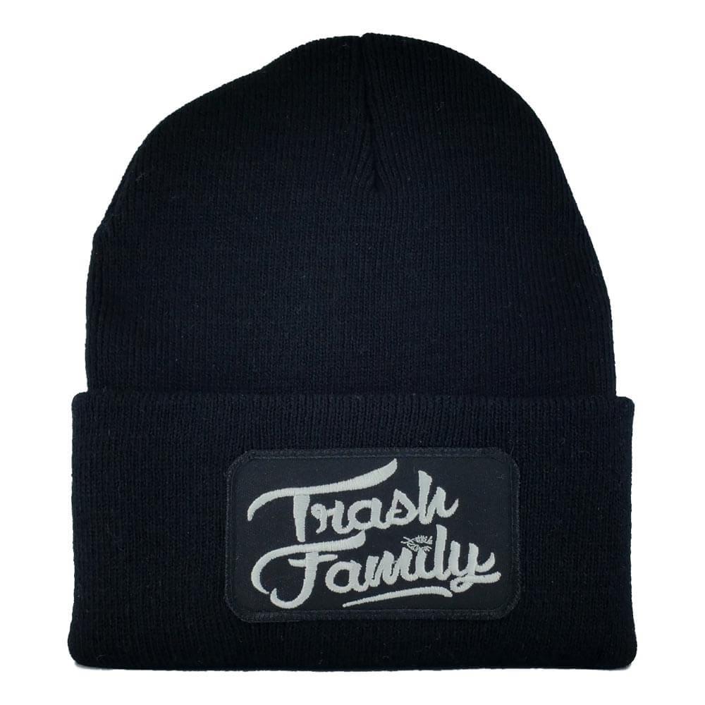 Trash-Family-Beanie-Black