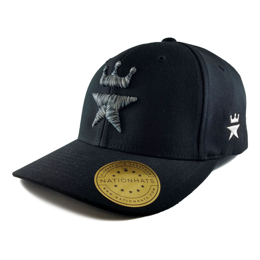 Royal-Zebra-Flexfit-6580-Baseball-cap-Black-Iso