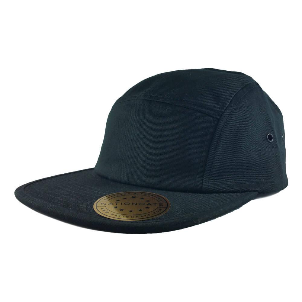 Blank-Flexfit-7005-Classic-Jockey-Camper-Clipback-Cap-Black-Iso