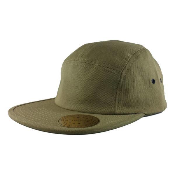 Blank-Flexfit-7005-Classic-Jockey-Camper-Clipback-Cap-Khaki-Iso