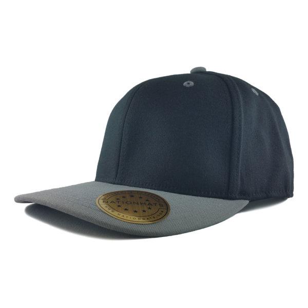 Blank-Flexfit-110P-One-Ten-Pro-Formance-Velcro-Cap-Black-Grey-Iso