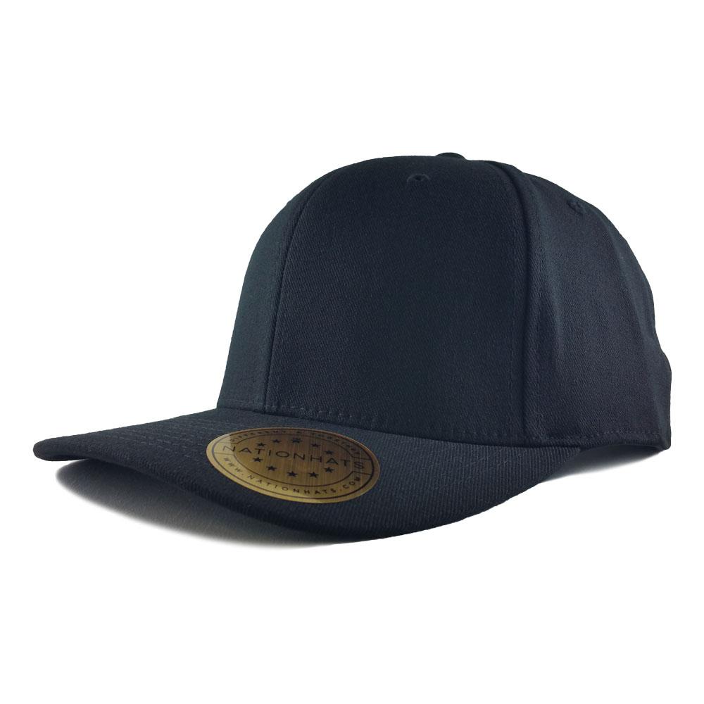 Blank-Flexfit-110P-One-Ten-Pro-Formance-Velcro-Cap-Black-Iso