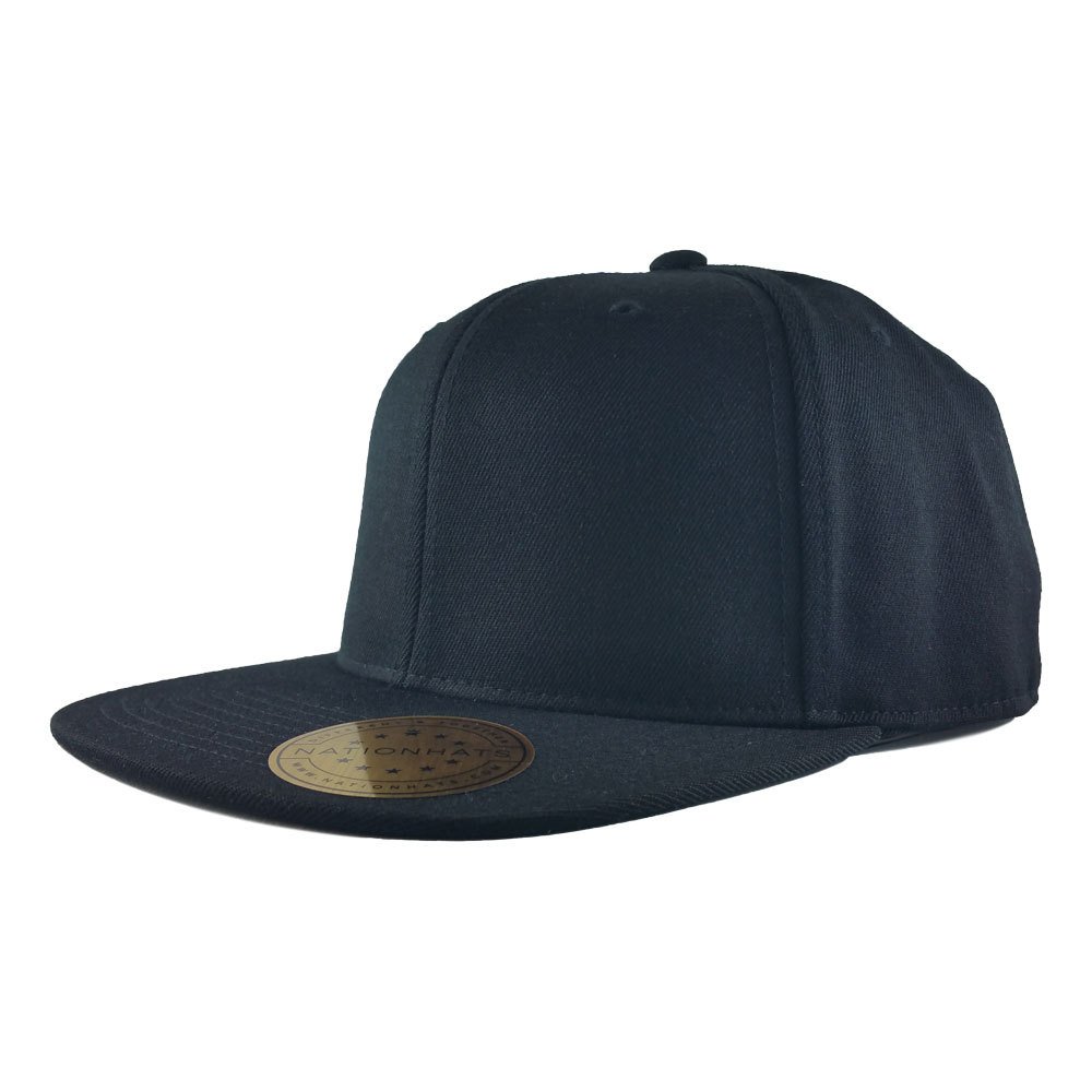 Blank-Flexfit-110F-One-Ten-Snapback-Cap-Black-Iso