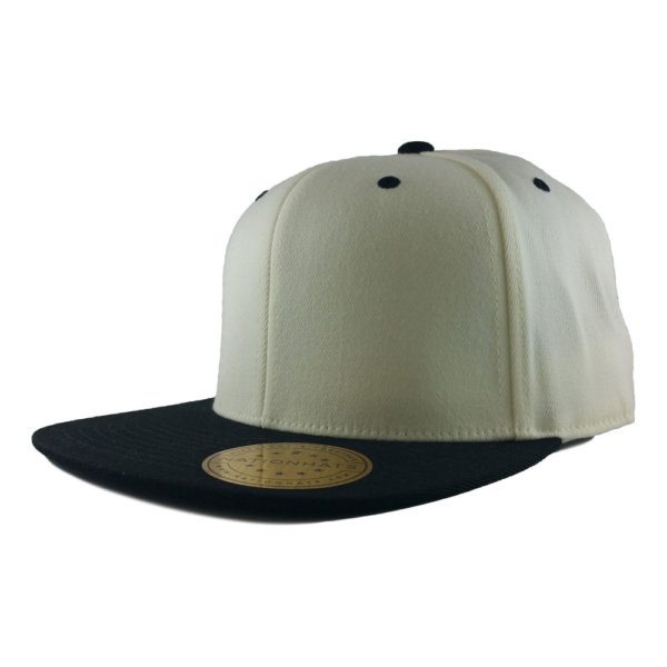 Blank-Flexfit-110F-One-Ten-Snapback-Cap-White-Black-Iso