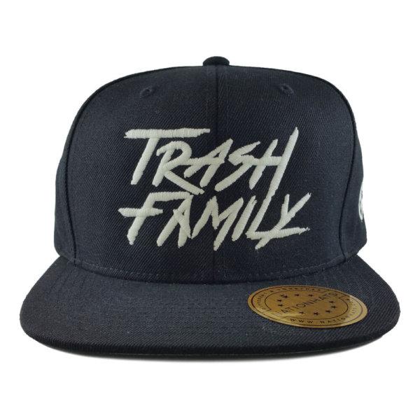 Trash-Family-Glow-In-The-Dark-6089RF-Reflective-Visor-Snapback-Cap-Black-Front