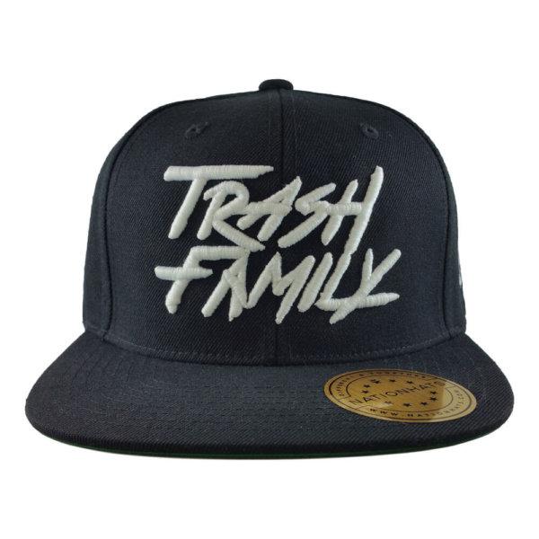 trash-family-6089M-classic-snapback-hat-black-front
