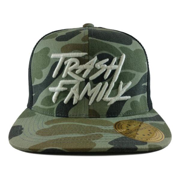 Trash-Family-6089MCAMO-Camo-Trucker-Snapback-Cap-Front
