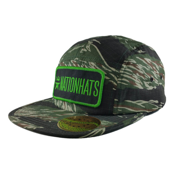 Nationhats-Flexfit-7005-Jockey-Camper-Army-Green-Iso