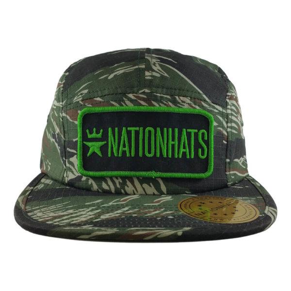 Nationhats-Flexfit-7005-Jockey-Camper-Army-Green-Front