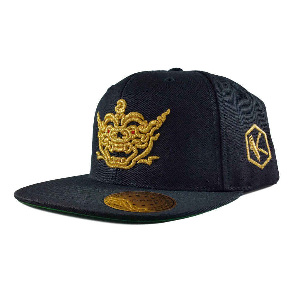 24-kuts-barbershop-golden-dragon-6089M-classic-snapback-cap-black-iso