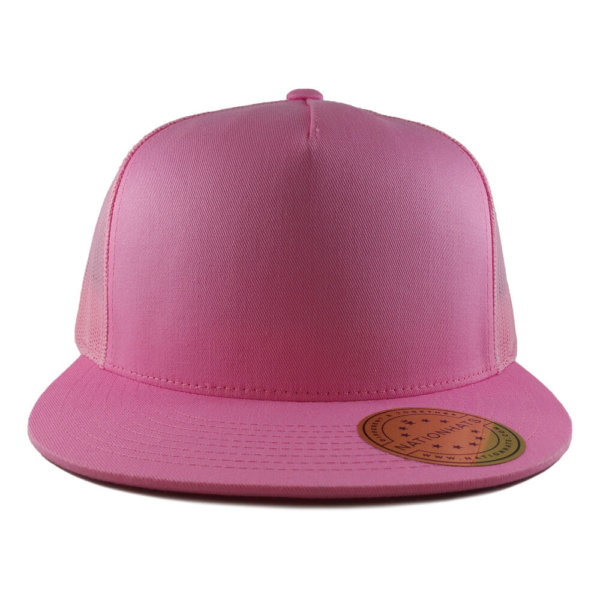 Blank-6006-Classic-Trucker-Cap-Pink-Front