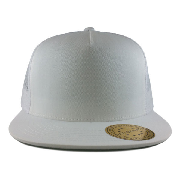 Blank-6006-Classic-Trucker-Cap-White-Front