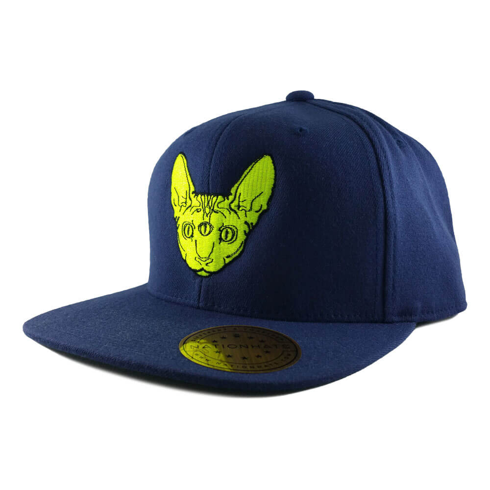 Sphynx Géant Snapback Cap on a Navy One-Ten