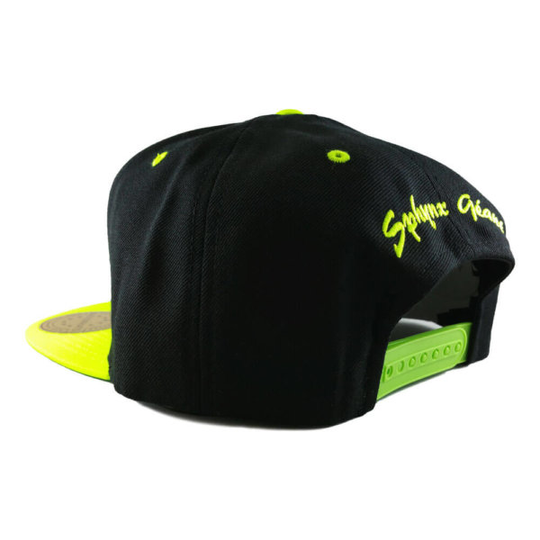 sphynx-geant-6089M-classic-snapback-cap-black-neon-green-back-iso