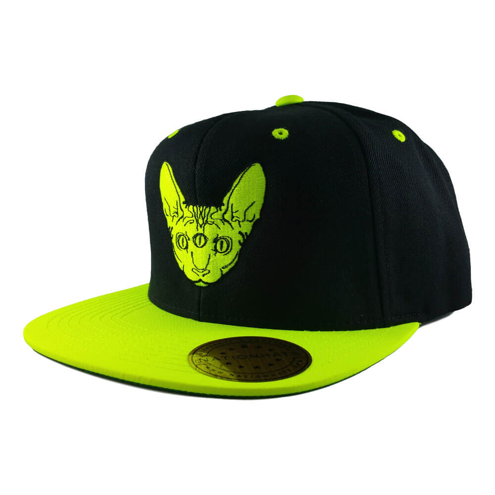 sphynx-geant-6089M-classic-snapback-cap-black-neon-green-iso