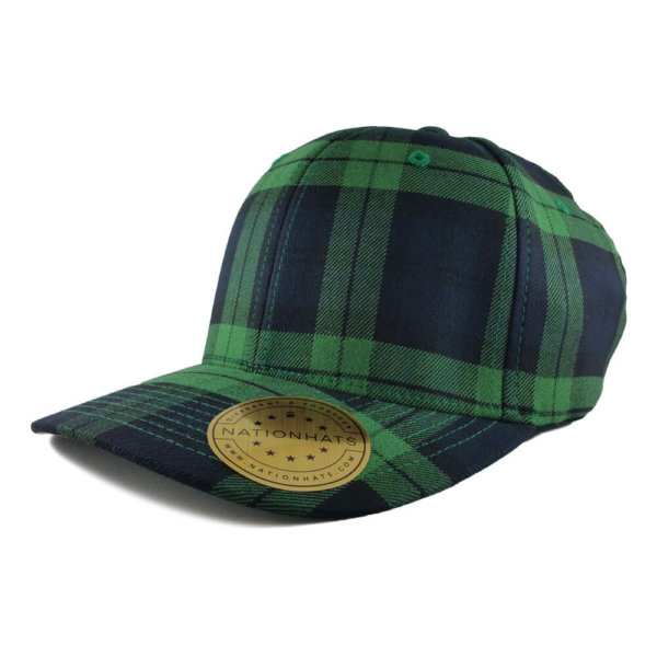 Blank-6197-Flexfit-Tartan-Plaid-Black-Green-Iso