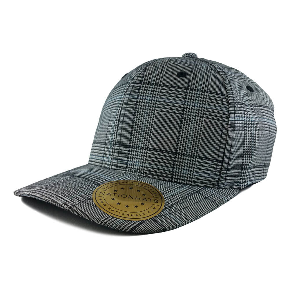 Black & White Flexfit Glen Check Cap Model 6196