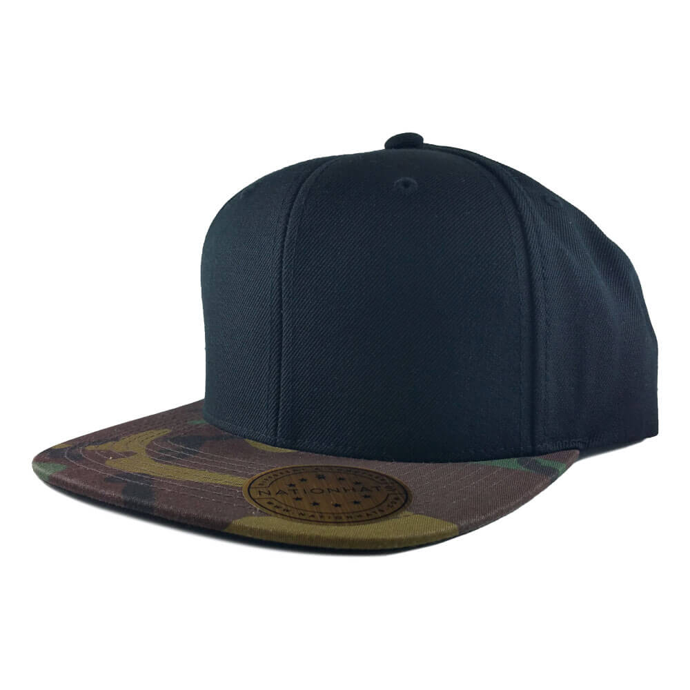 The 6089TC, a Classic Snapback Cap with a Camo Visor