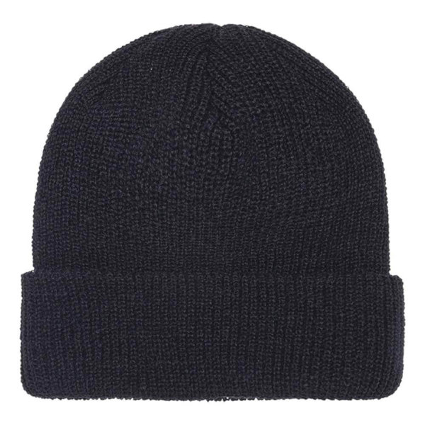blank-1545k-ribbed-cuffed-knit-beanie-winter-cap-black-front
